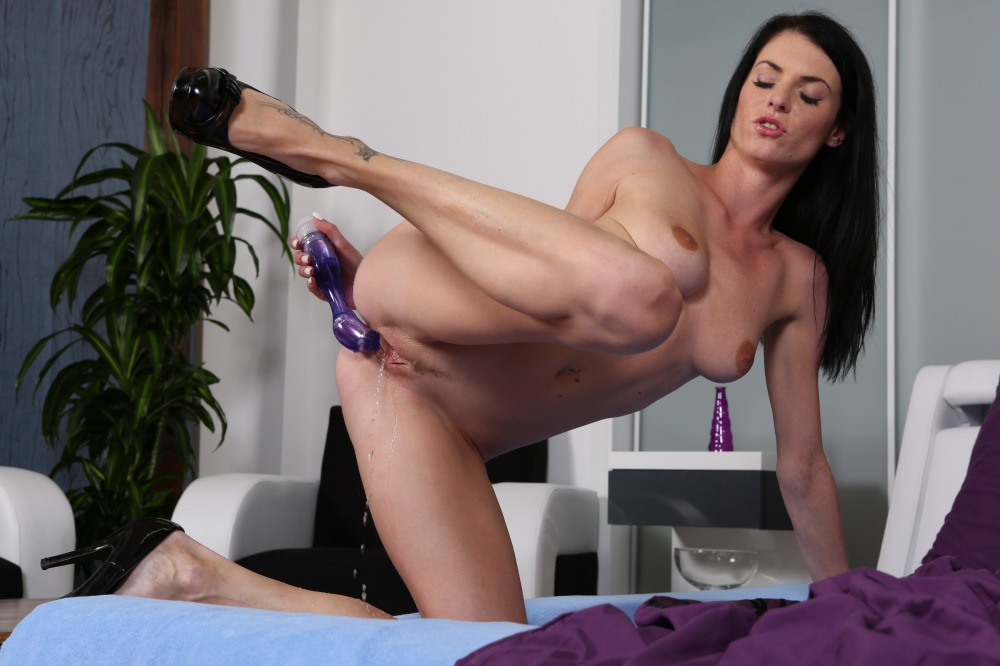 Sex toys and piss play for pretty Eurobabe Eileen
